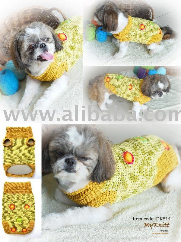Hand Knit Crochet Dog Clothes - Buy Crochet Dog Sweater Product on ...