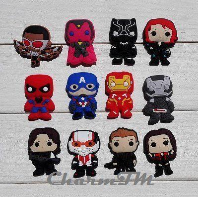 1b84fd2bd Avengers Jibbitz Set of 5 PVC Jibbitz Crocs Natives Party ...