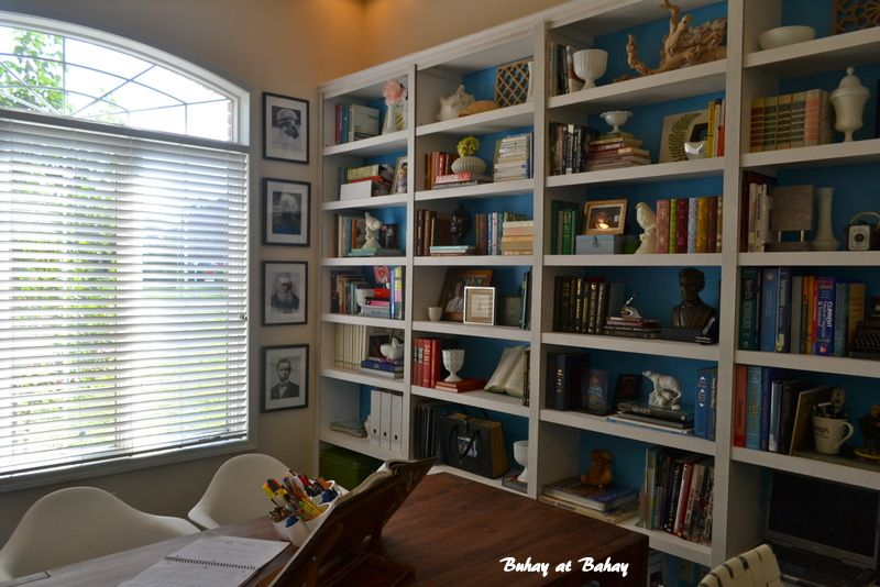 now this is how you style a wall of shelves