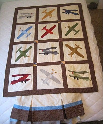 My aunt gave me a ton of embroidered airplane squares that my ... : airplane quilts - Adamdwight.com