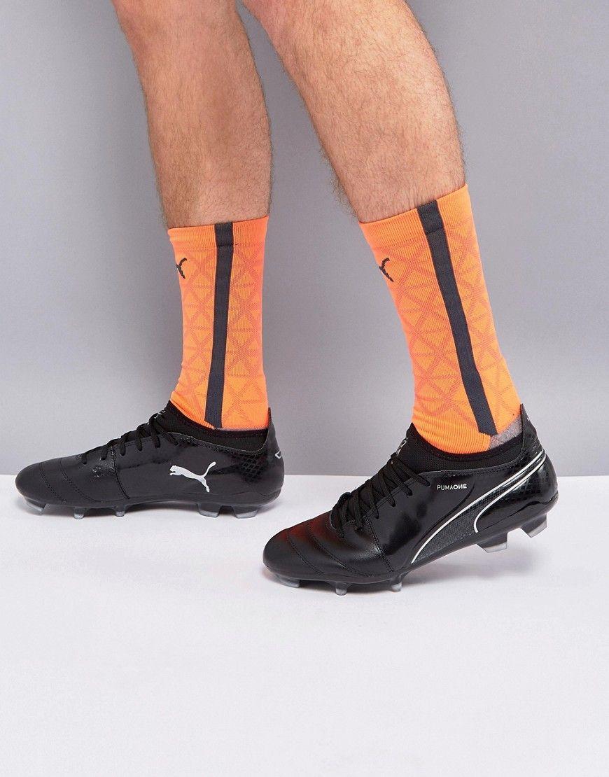 c7b7f1085c7 Puma One Soccer Boots 17.3 Firm Ground In Black 10407404 - Black