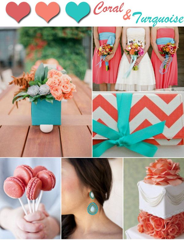 Best Coral And Turquoise Wedding Colors Images - Styles & Ideas ...