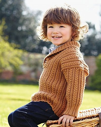 Ravelry: #16 Shawl Collared Sweater pattern by Debbie Bliss