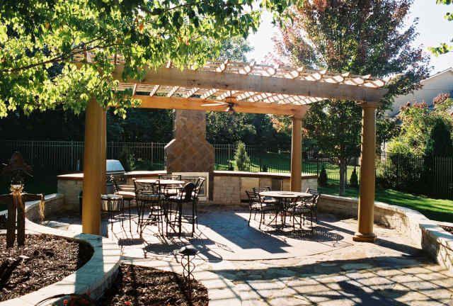 Landscape Design Pictures Backyard Kitchen Spa Pergola