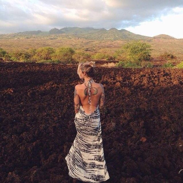 """TYSA on Instagram: """"#fbf to @reesuhh taking our breaths away in the Wanderlust Dress in Black Feather. Who else loves looking back with us?! #TYSAarchives"""" #fbf"""