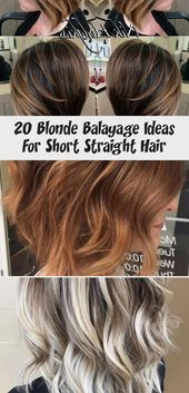 20 blonde balayage ideas for short straight hair