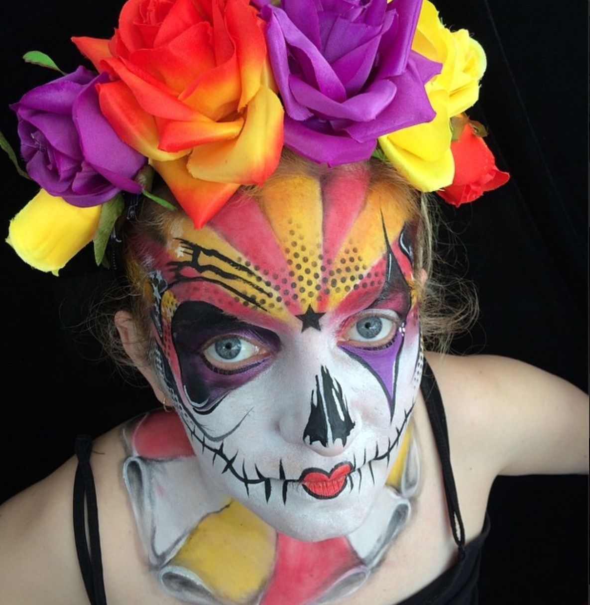 Circus theme sugar skull party entertainment circus