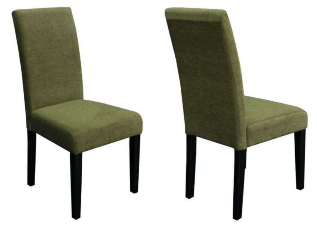 Upgrade Your Home Decor With This Parson 2 Piece Chair Set Featuring Moss  Green Color Upholstery