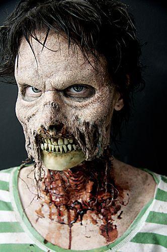 Zombie makeup #TheASGproject maquillajes de zombies Pinterest