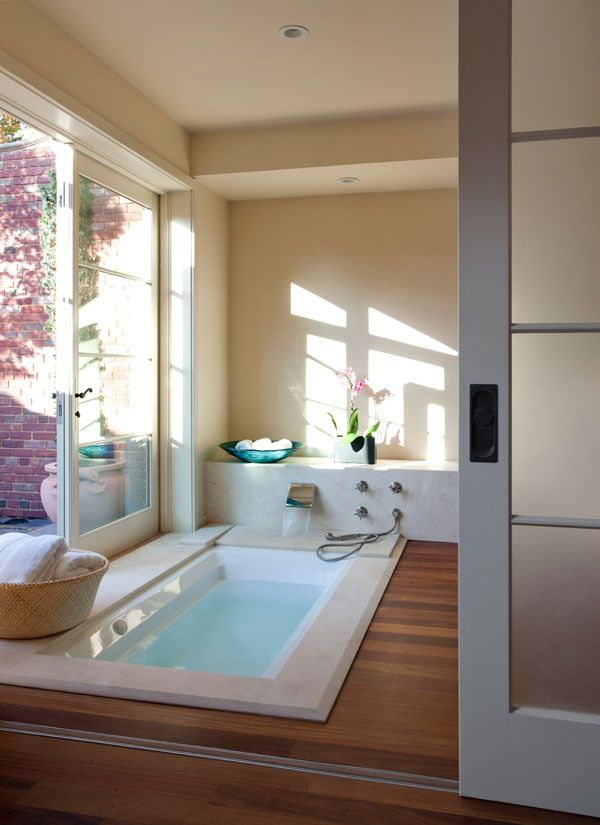 Sunken bath that looks neat and clean and modern | Dream home ideas ...
