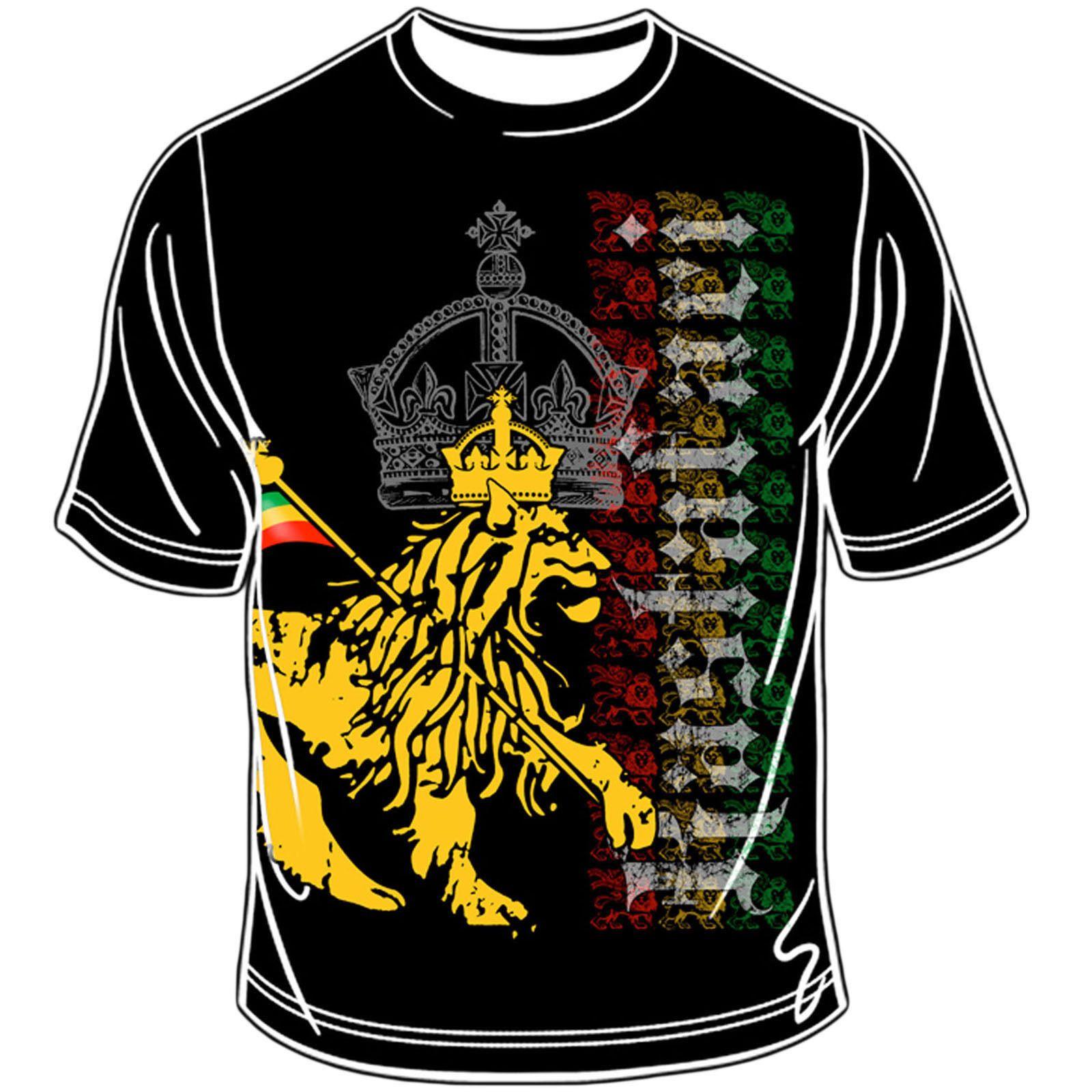 Design t shirt reggae - Details About Rastafari Lion Of Judah Rasta T Shirt Reggae Jamaica Marley Selassie Africa Lion