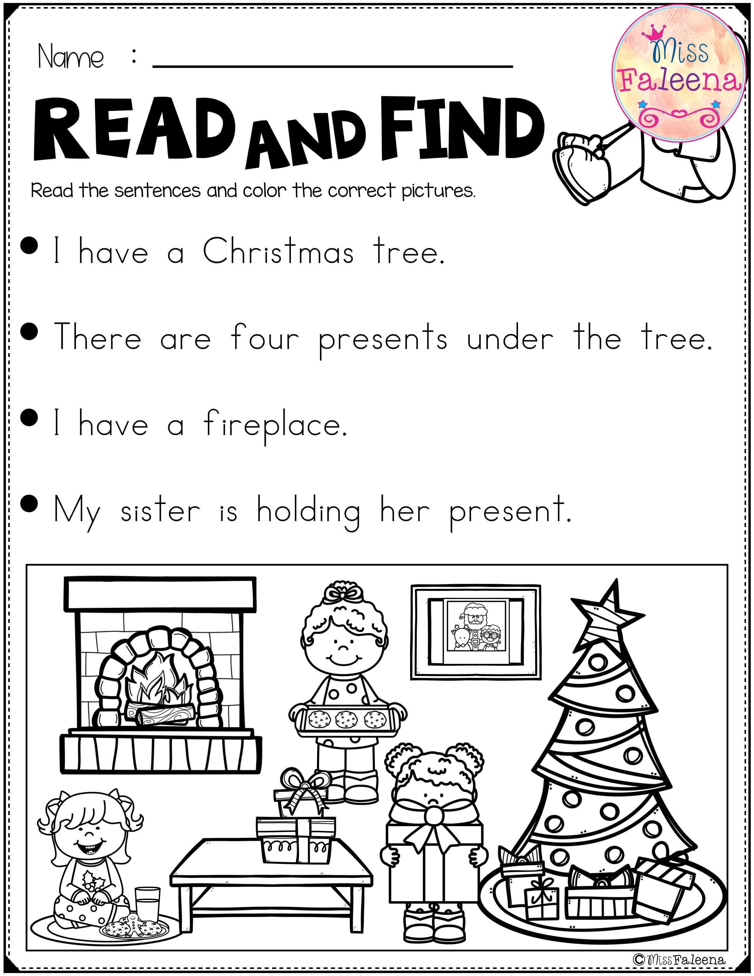 December Reading Activities For Beginning Readers