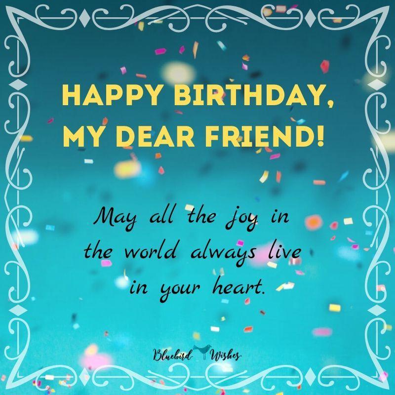 Birthday Image For Best Friend Male Birthday Image For Best Friend Male In 2020 Message For Best Friend Happy Birthday Dear Friend Birthday Prayer Wishes