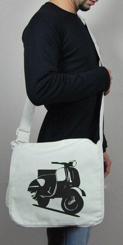 Vespa  Messenger Nylon 420d bag  Unisex  White by wwwthisandthatgr, €25.00