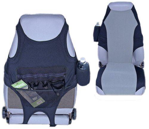 Black  Gray Neoprene Seat Protector Rugged Ridge