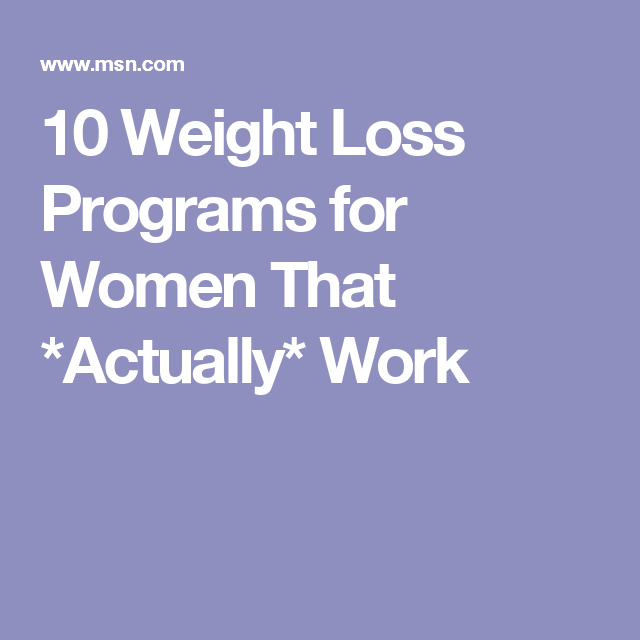 Weight loss programs that actually work