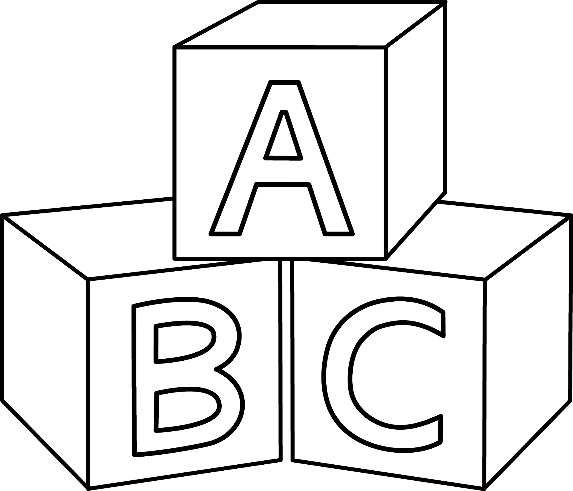 Free Abc Worksheets To Print Abc Blocks Abc Coloring Pages Coloring Pages For Kids
