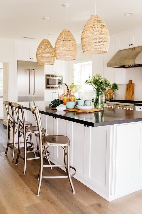 Three Light Pendant Kitchen Island