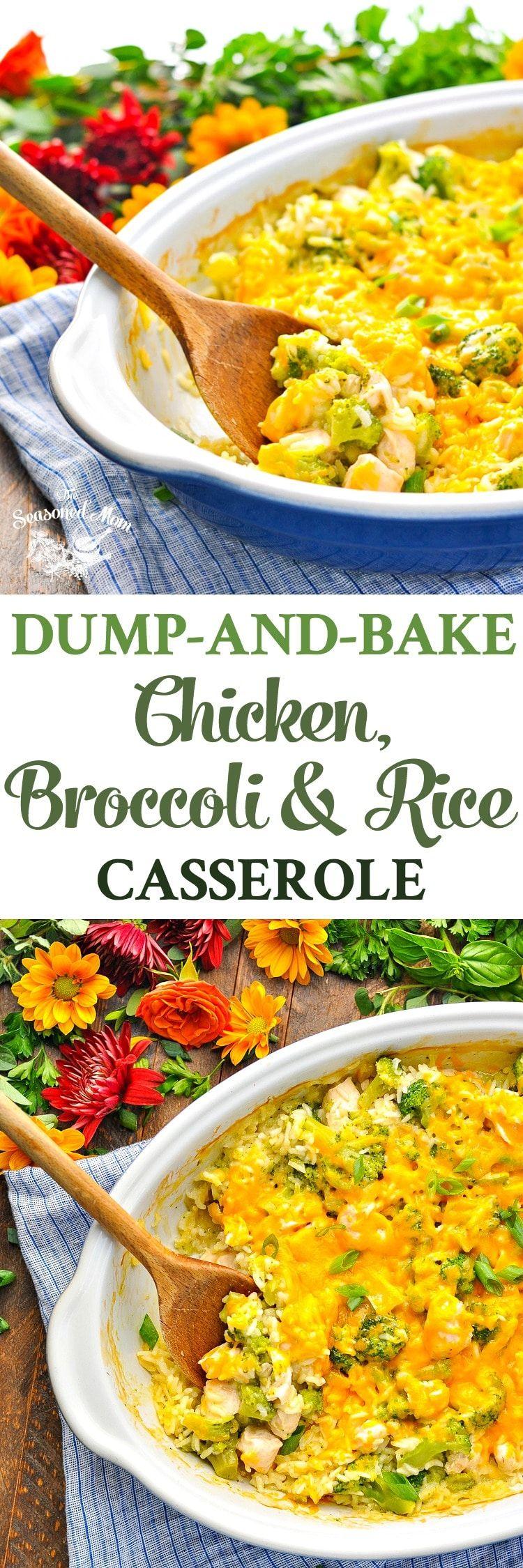 Dump-and-Bake Chicken Broccoli Rice Casserole | Recipe ...