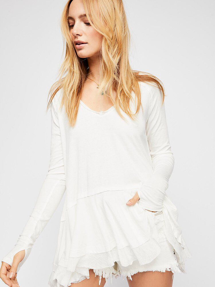c9c1b179639d We The Free Tangerine Tee from Free People!