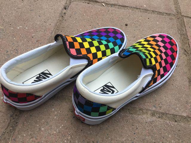 Vans shoes fashion, Rainbow vans