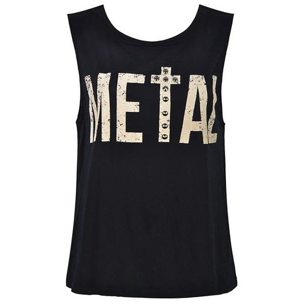 METAL STUD TANK TOP ($15) ❤ liked on Polyvore featuring tops, shirts, tank tops, blusas, tanks and shirts & tops