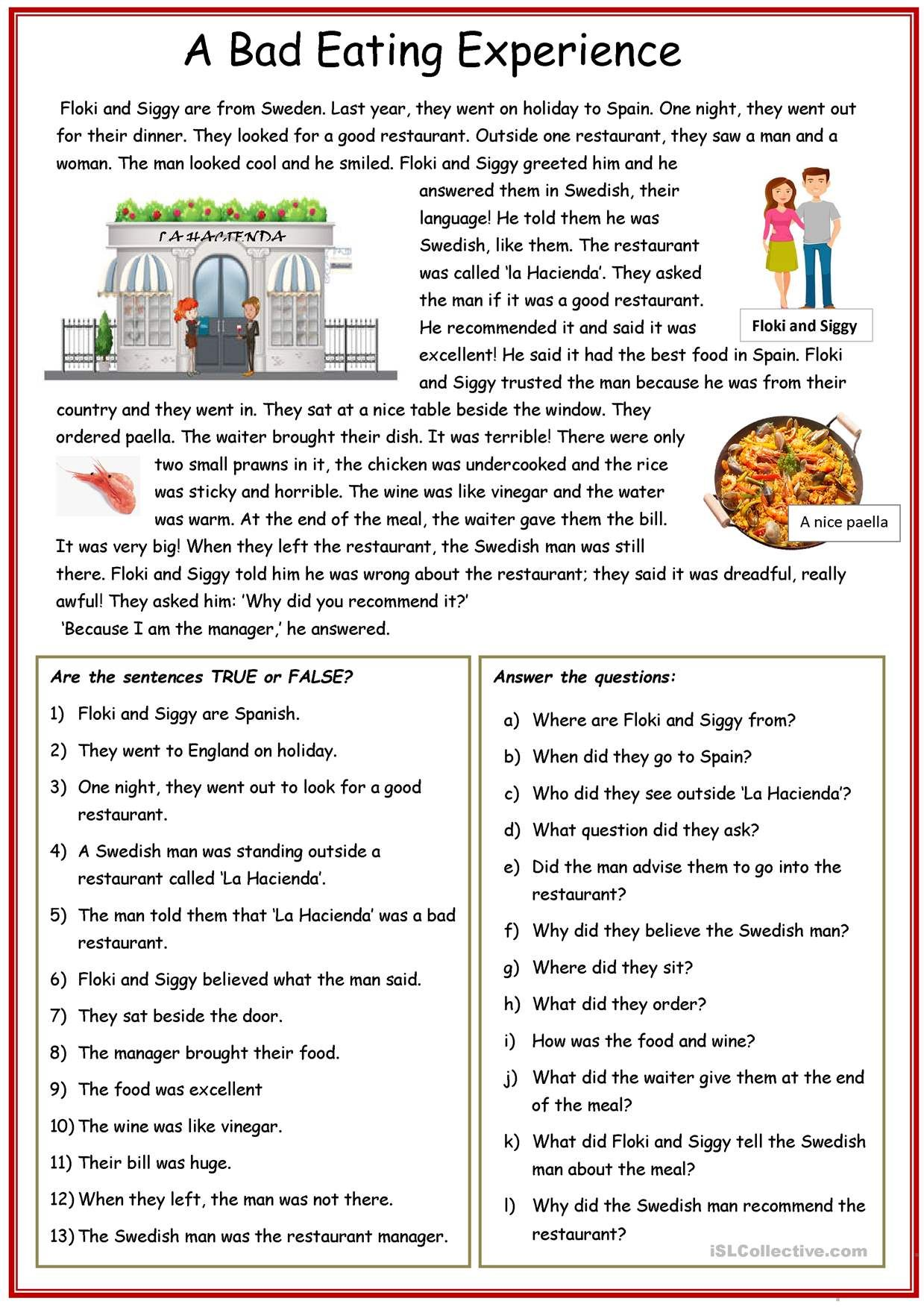One Click Print Document Reading Comprehension Lessons Reading Comprehension Worksheets Reading Comprehension [ 1752 x 1239 Pixel ]