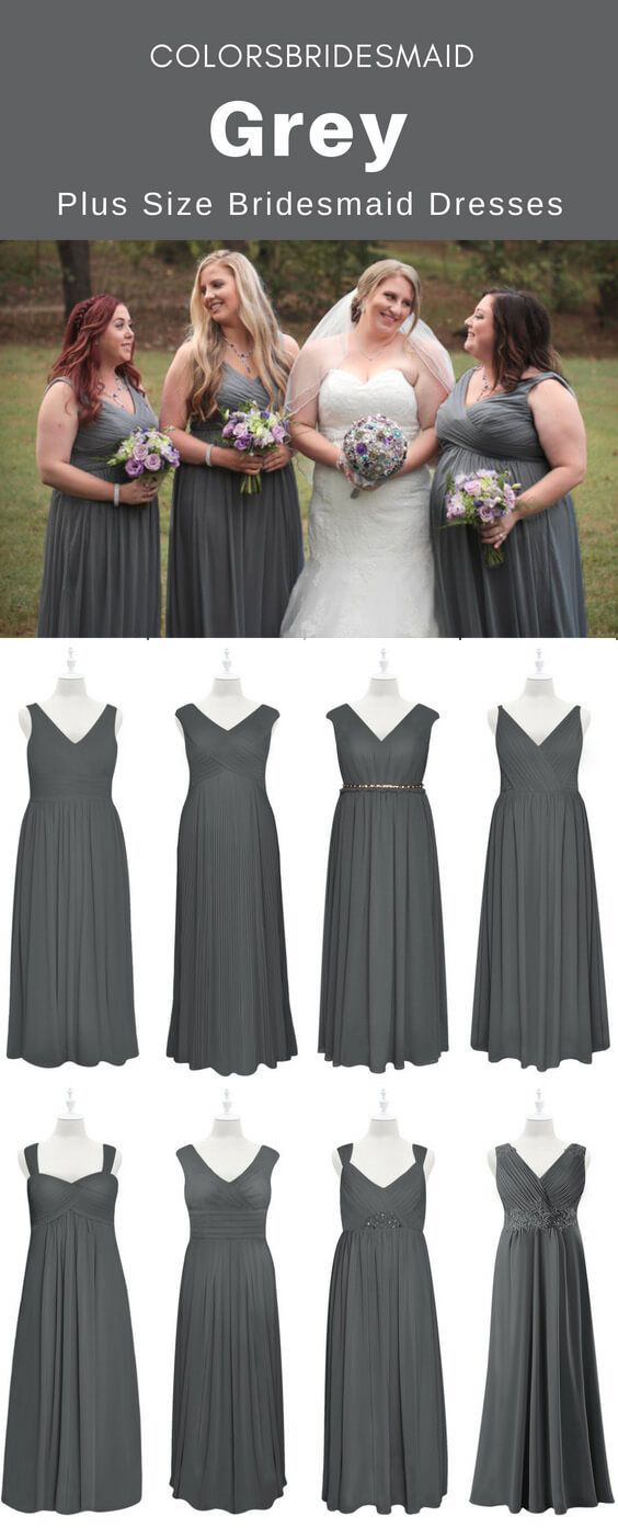 latest sale unequal in performance big selection Amazing Plus Size Grey Bridesmaid Dresses That will Astonish ...