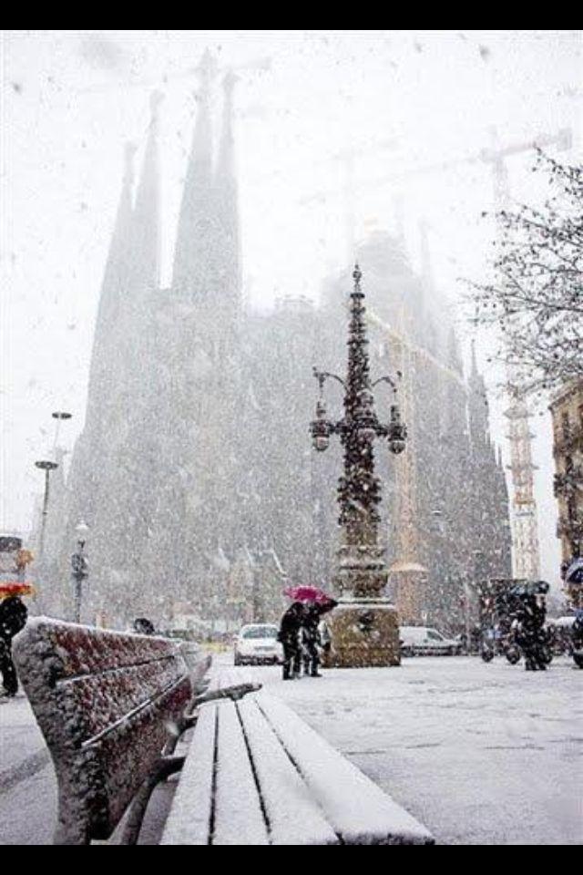 Barcelona in the Winter