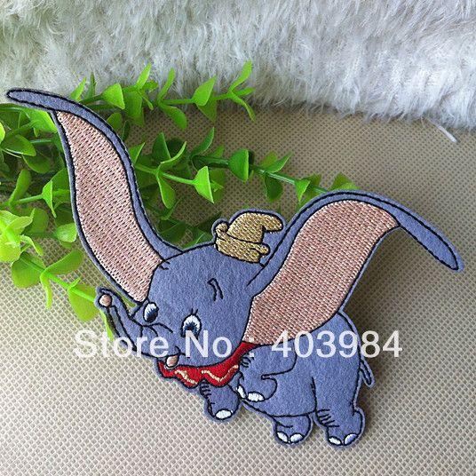 Frete Grátis ~ 10 pcs / Lote Atacado bordado Dumbo Iron On Sew On patch emblema Applique em Apliques de Roupas & acessórios no AliExpress.com | Alibaba Group