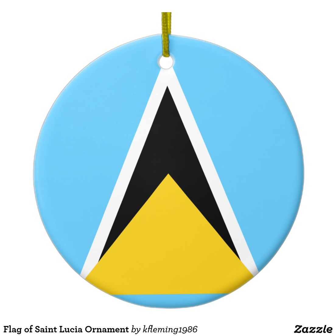 Flag of Saint Lucia Ornament