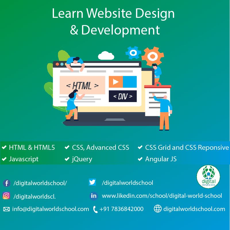Learn Website Design Development Html Html5 Css Avanced Css Css Grid And Css Reponsive Ja Learning Website Design Website Design Design Development