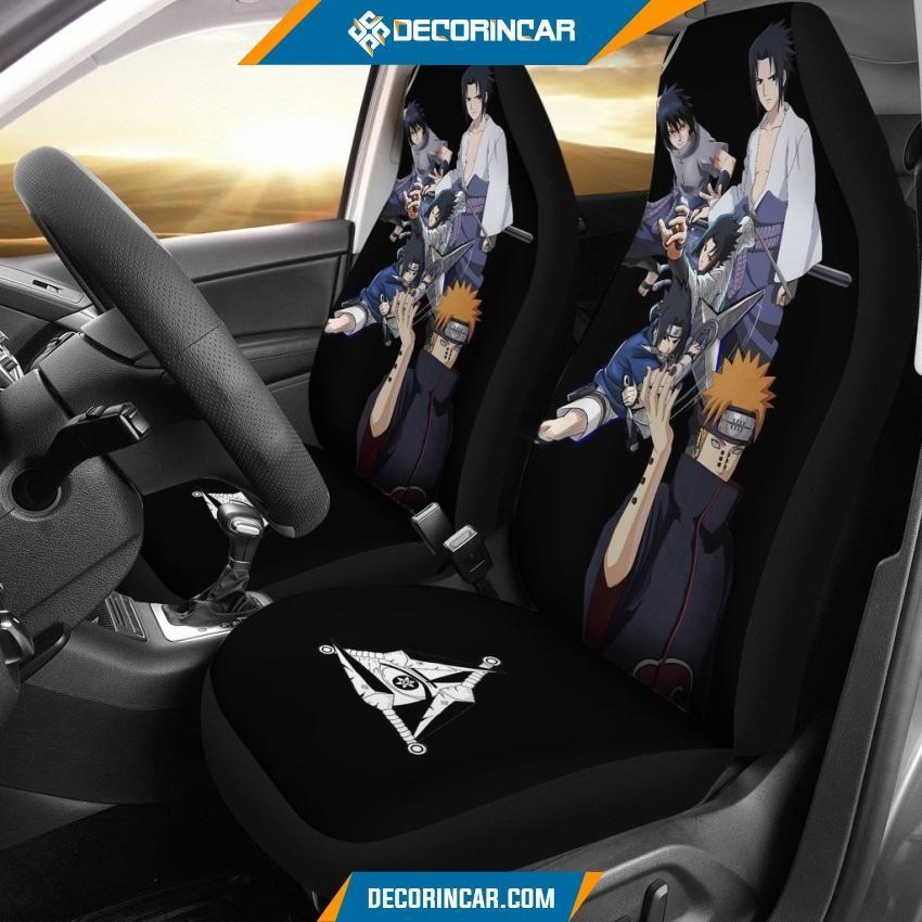 Photo of Naruto Anime Car Seat Covers Pain Akatsuki And Sasuke Uchiha Sharingan Seat Covers