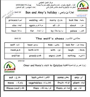 دوسية مفردات الانجليزي للصف الخامس الفصل الثاني حسب المنهاج الجديد Learn English Vocabulary Learn English English Vocabulary
