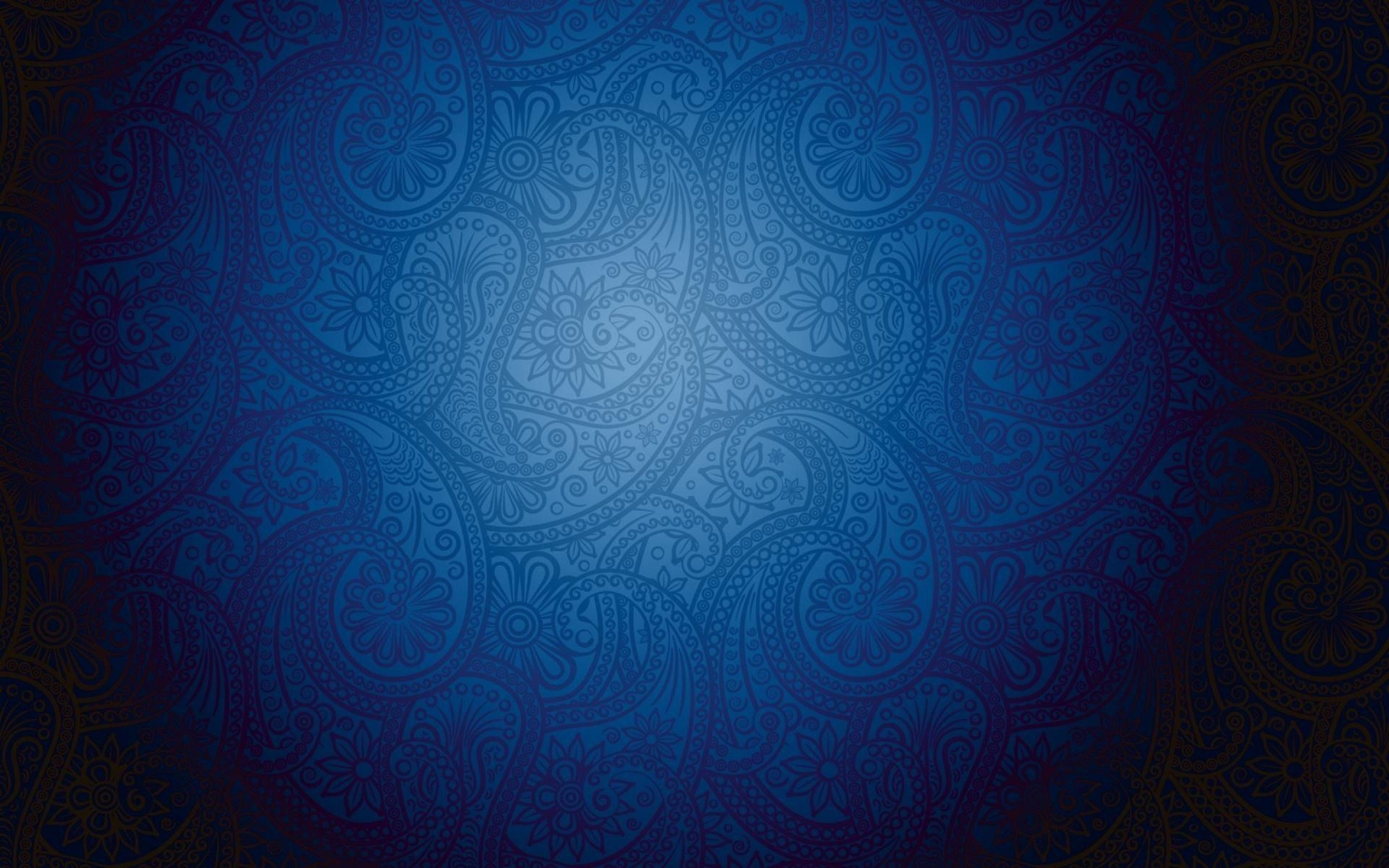 Artistic blue pattern background with modern batik motive for Cool modern wallpapers