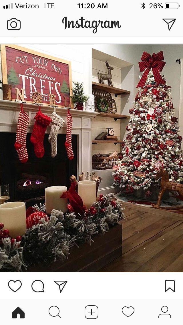 classic Christmas decor Christmas Cheer Pinterest Christmas