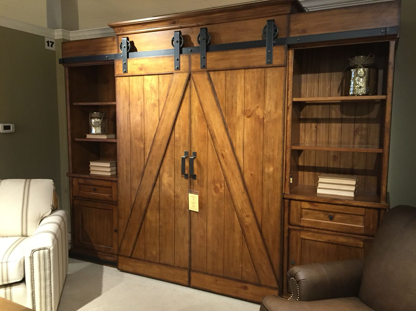 how to build an entertainment center with barn doors