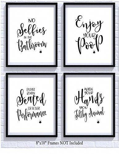 Buy Bathroom Quotes And Sayings Art Prints Set Of Four Photos