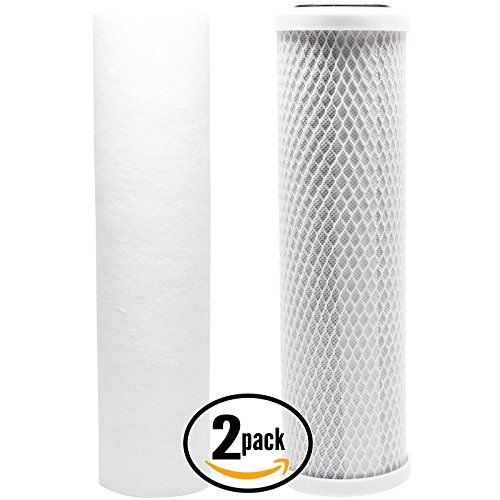 3 4.5 X 20 Inch 1 with WS03X10039 O-Ring WP5BB20P Compatible String Wound Water Filter Cartridges Watts SF5-20-425 Replacement Water Filters Pentek WP5BB20P 20 Micron