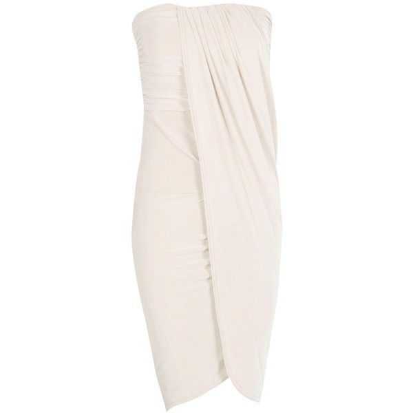 Boohoo Deborah Draped Bandeau Midi Dress | Boohoo (€27) ❤ liked on Polyvore featuring dresses, sequin bodycon dress, maxi dresses, sequin party dresses, pink dress and cocktail party dress