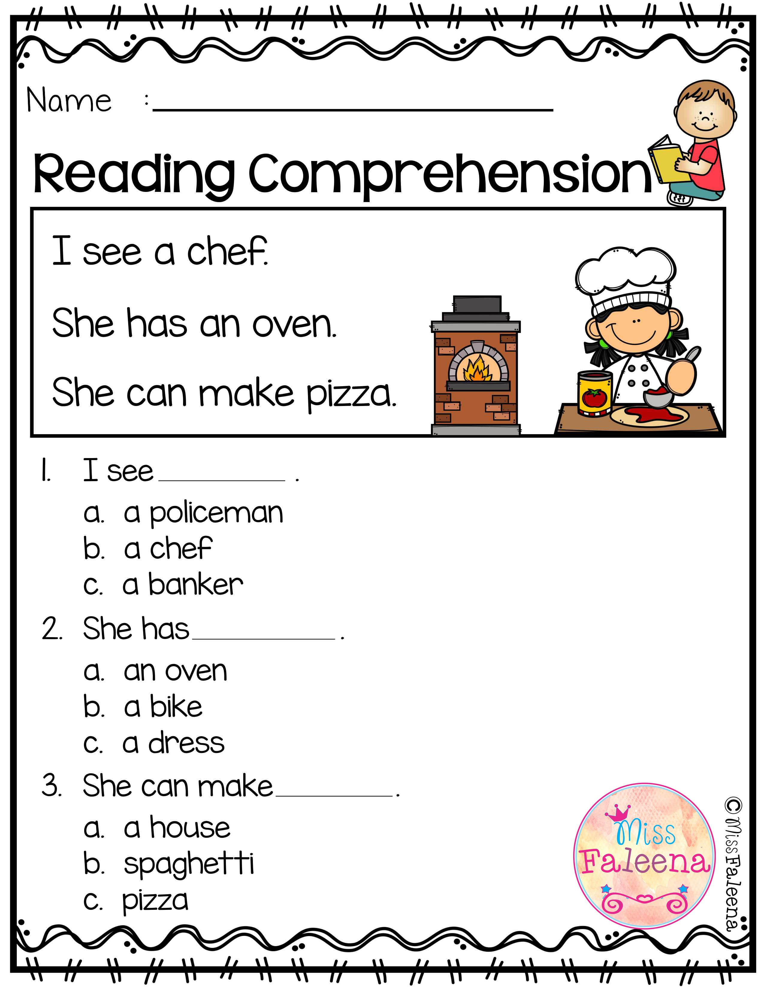 Free Reading Comprehension Reading Comprehension Reading