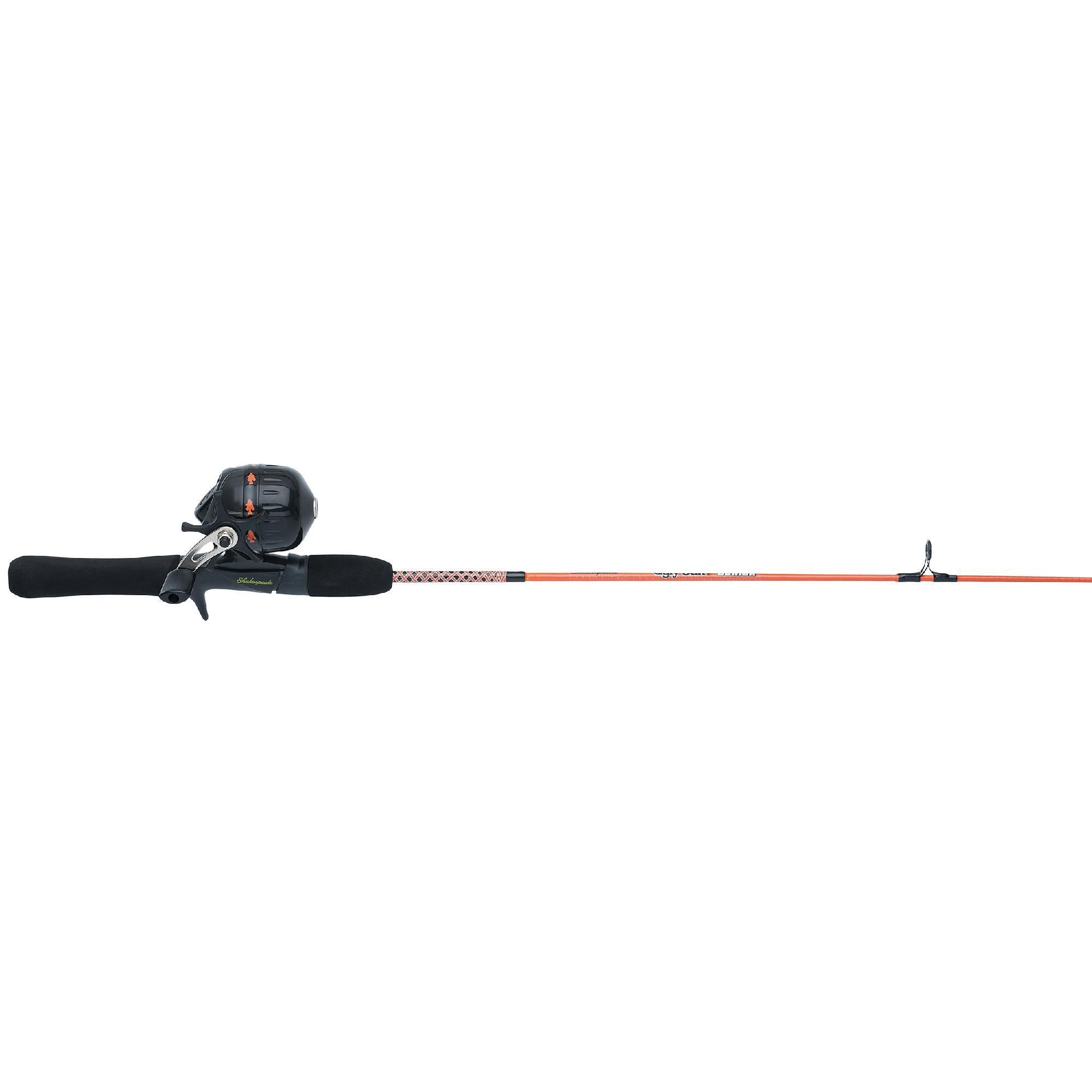 "Ugly Stik Jr, Spincast Kit, 6, 4'6"" 2pc Rod, Orange, Right Hand"