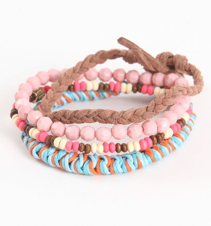 With Love From CA Coral Friendship Bracelets