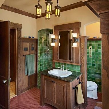 Craftsman style bathroom design ideas pictures remodel - Arts and crafts home interior design ...