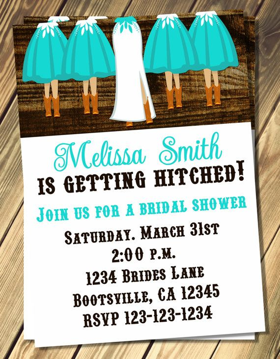 cowgirl bridal shower invitation print your own by vmiddleton5 800