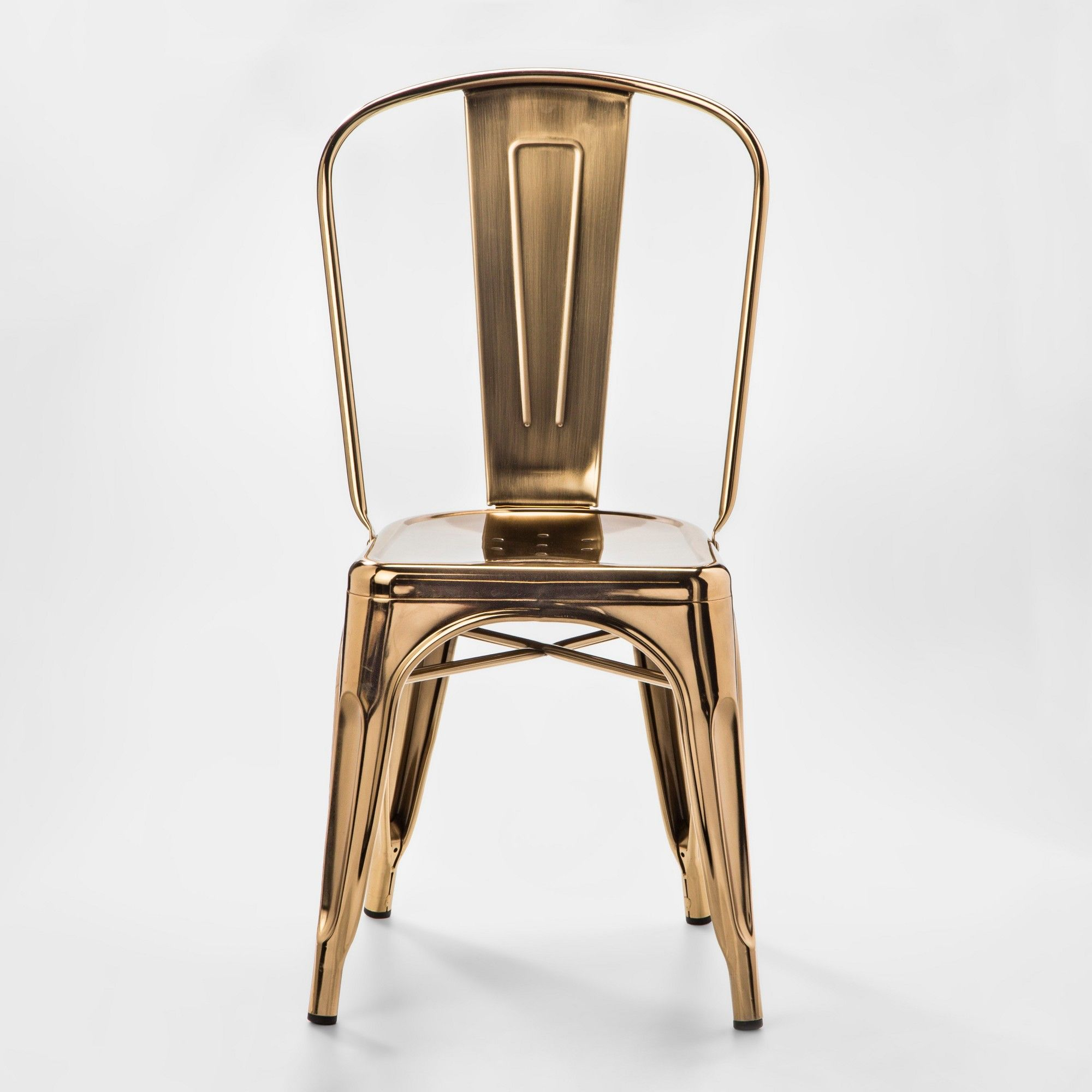Carlisle Couture High Back Metal Dining Chair Gold Ace Bayou
