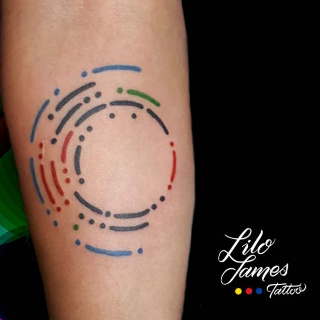 Lilojamestattoo Names In Concentric Circles And Morse Code Tattoodo Morse Code Tattoo Circle Tattoos Tattoos For Kids