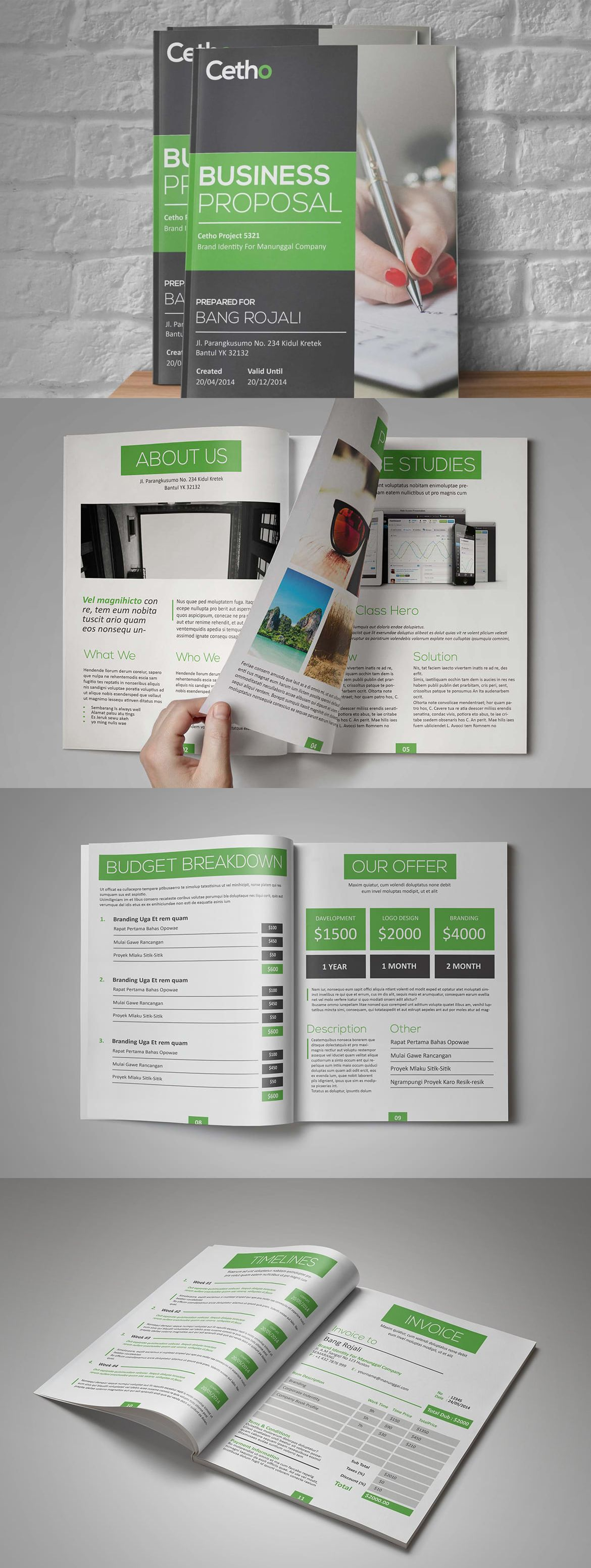 Cetho Business Proposal Template Indesign Indd 12 Pages Proposal