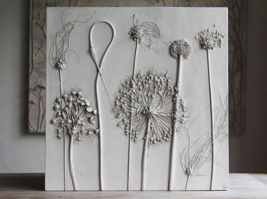 Wandgestaltung Mit Gips kreative blumen gipsabdrucke als ausgefallenes geschenk und kreatiev