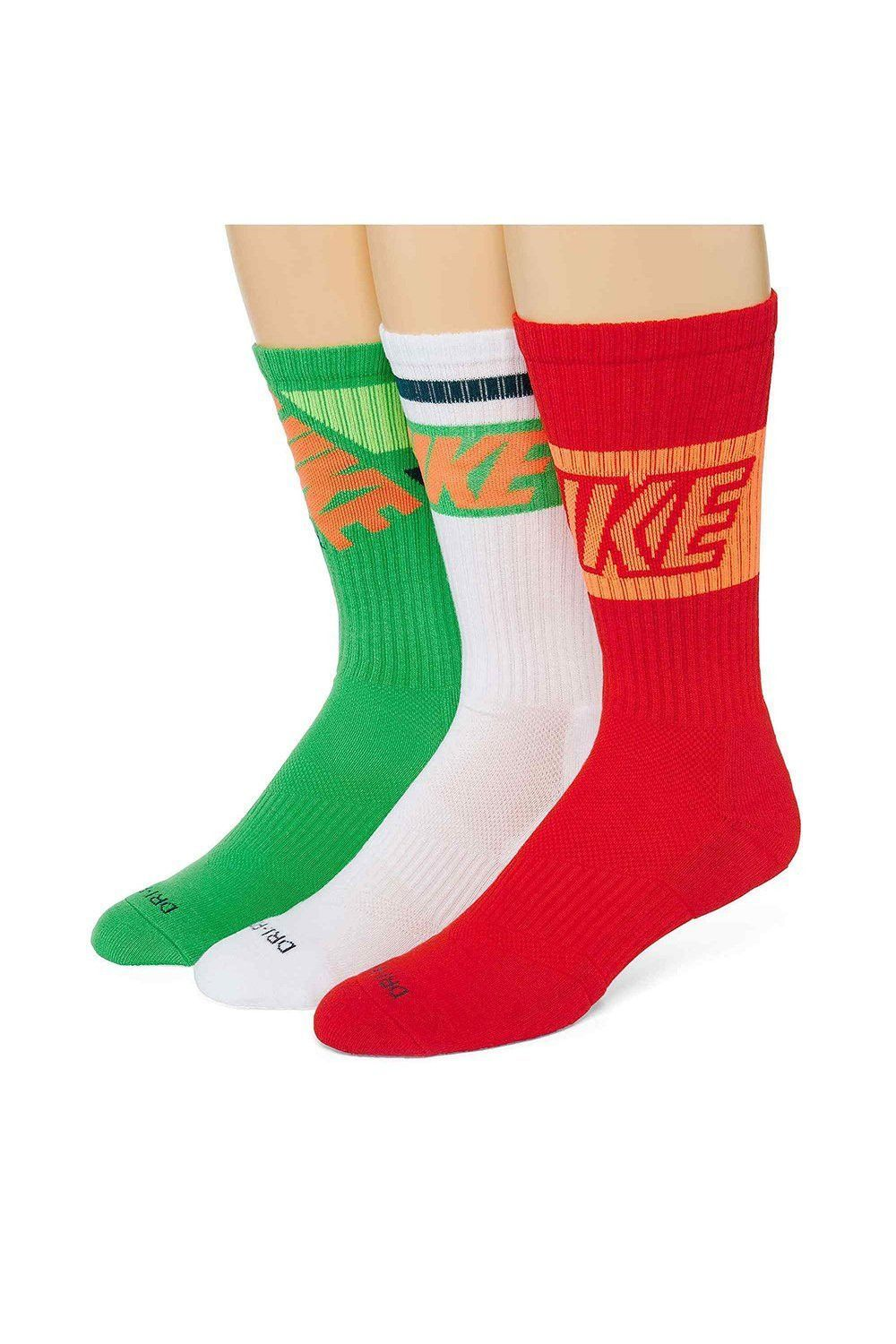Nike Mens Dri-fit Fly Rise Crew Socks (3 Pack) Large 8-12 | Products ...